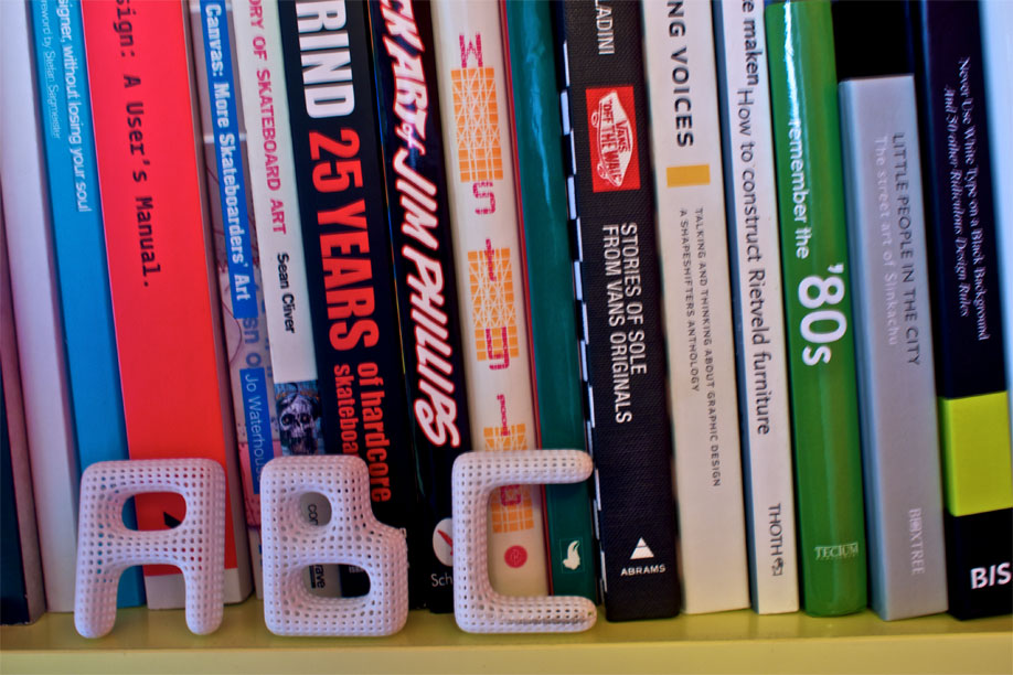 ABC, spelled with the Cloudswimmers Alphabet