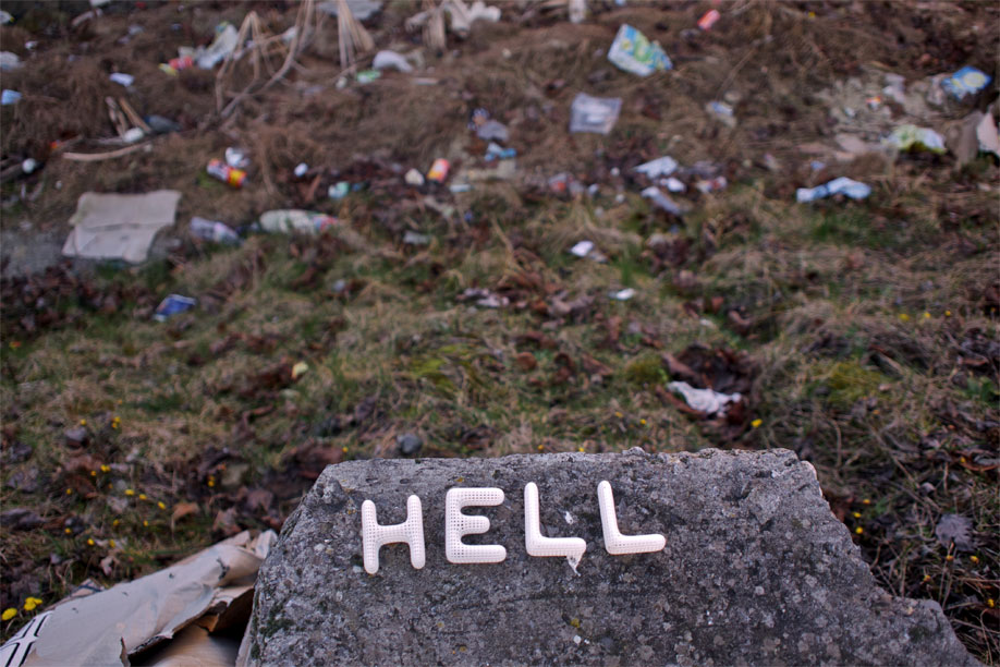 Hell, spelled with the Cloudswimmers Alphabet