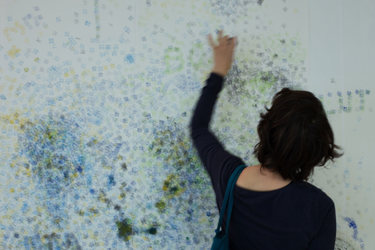 Interacting with the installation.