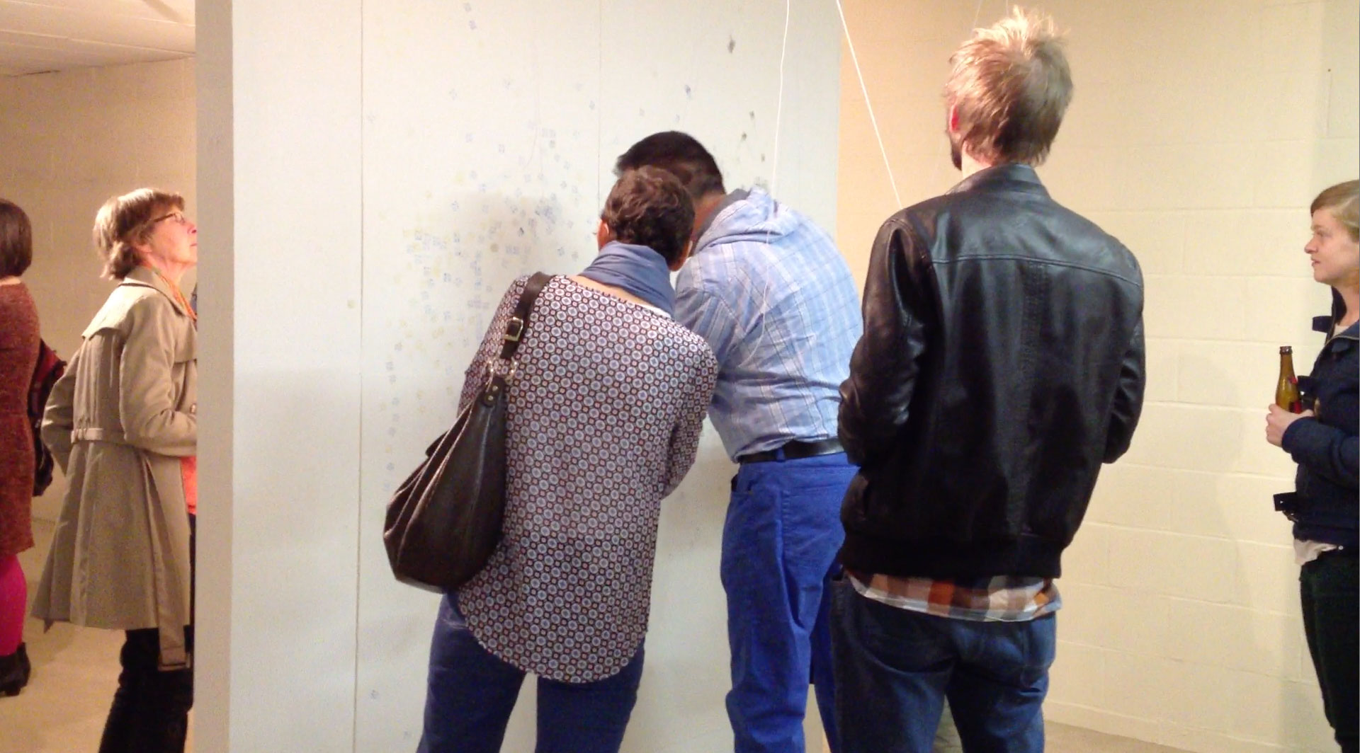 People at the opening of the exhibition in Ghent.