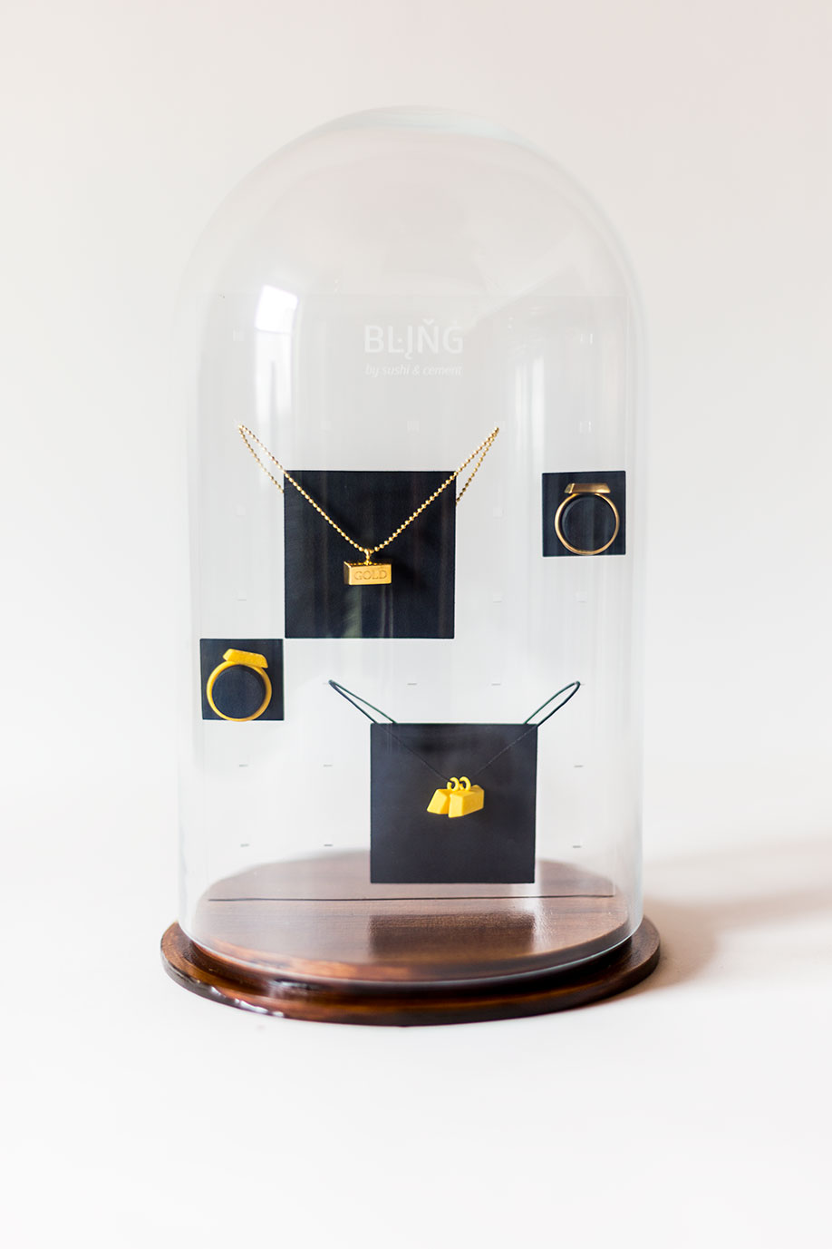 Jewelry display for the bling collection.