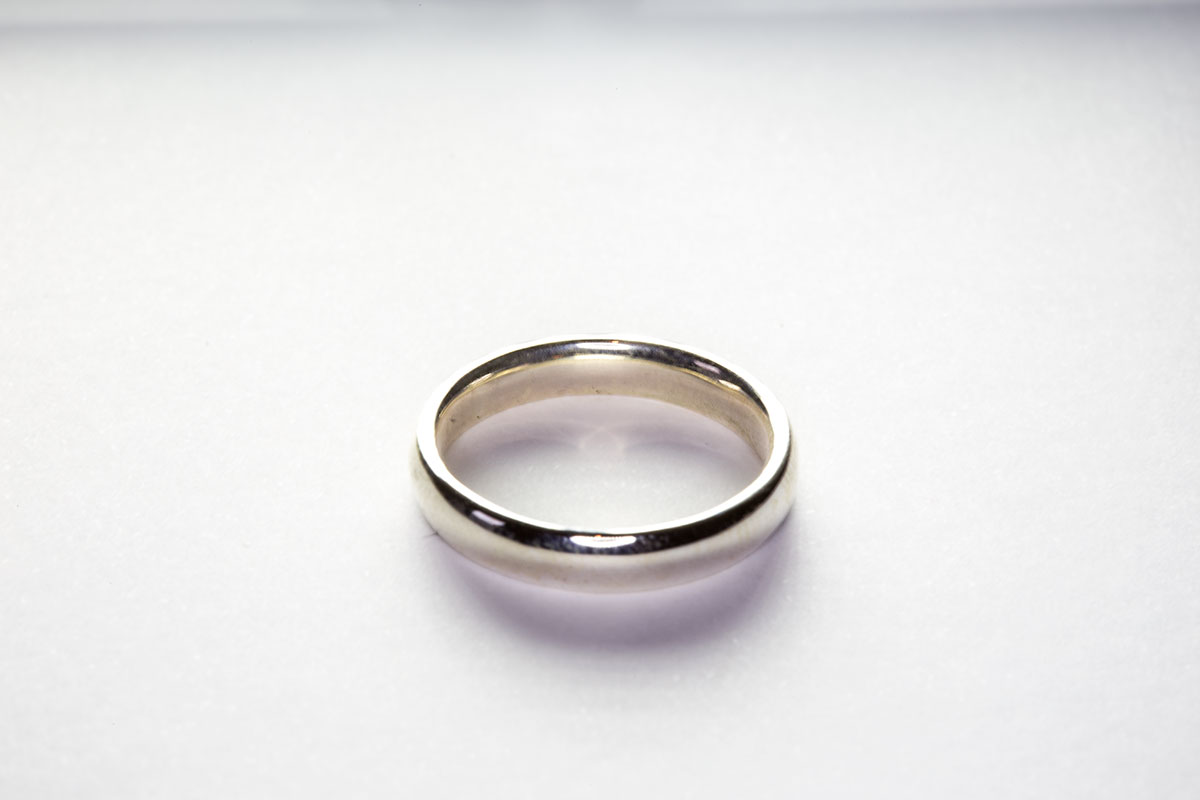 The Basic Ring, 3D printed in silver.